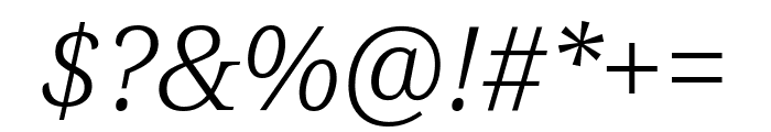 Noto Serif ExtraCondensed Light Italic Font OTHER CHARS