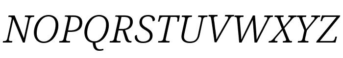 Noto Serif ExtraCondensed Light Italic Font UPPERCASE