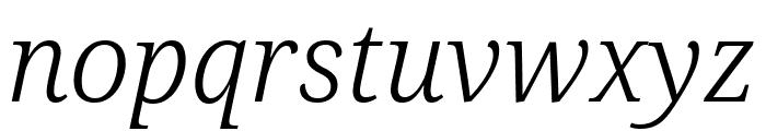 Noto Serif ExtraCondensed Light Italic Font LOWERCASE