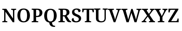 Noto Serif ExtraCondensed SemiBold Font UPPERCASE