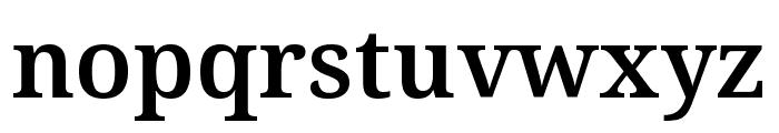 Noto Serif ExtraCondensed SemiBold Font LOWERCASE