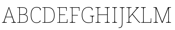 Noto Serif ExtraCondensed Thin Font UPPERCASE
