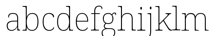 Noto Serif ExtraCondensed Thin Font LOWERCASE