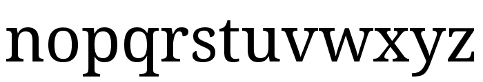 Noto Serif ExtraCondensed Font LOWERCASE