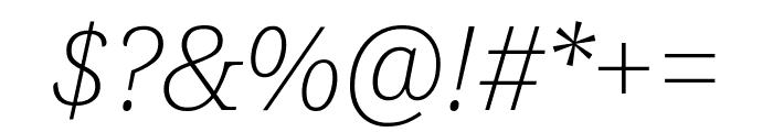 Noto Serif ExtraLight Italic Font OTHER CHARS
