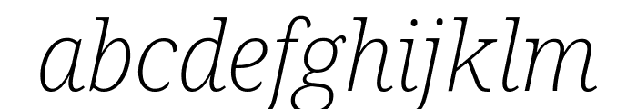 Noto Serif ExtraLight Italic Font LOWERCASE