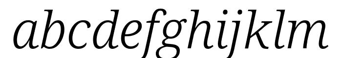 Noto Serif Light Italic Font LOWERCASE