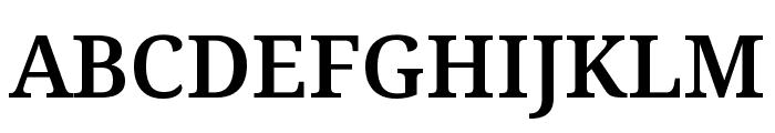 Noto Serif SemiBold Font UPPERCASE