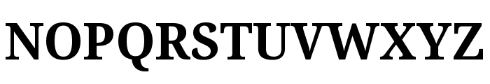 Noto Serif SemiCondensed Bold Font UPPERCASE