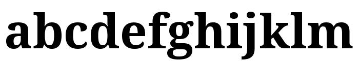 Noto Serif SemiCondensed Bold Font LOWERCASE
