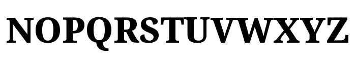Noto Serif SemiCondensed ExtraBold Font UPPERCASE