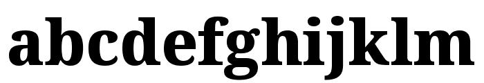 Noto Serif SemiCondensed ExtraBold Font LOWERCASE