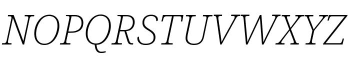 Noto Serif SemiCondensed ExtraLight Italic Font UPPERCASE