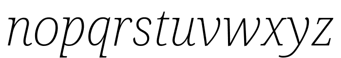 Noto Serif SemiCondensed ExtraLight Italic Font LOWERCASE