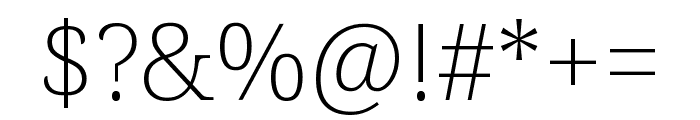 Noto Serif SemiCondensed ExtraLight Font OTHER CHARS