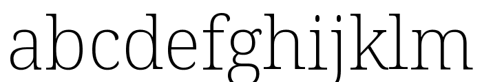 Noto Serif SemiCondensed ExtraLight Font LOWERCASE