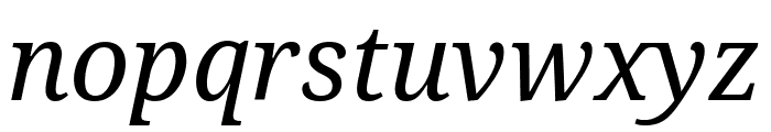 Noto Serif SemiCondensed Italic Font LOWERCASE