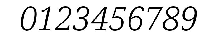 Noto Serif SemiCondensed Light Italic Font OTHER CHARS