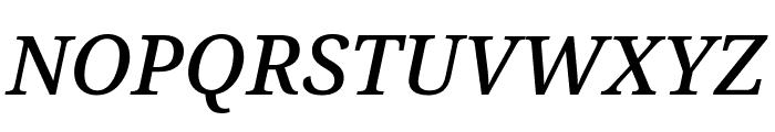 Noto Serif SemiCondensed Medium Italic Font UPPERCASE