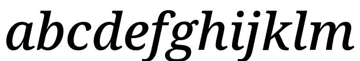 Noto Serif SemiCondensed Medium Italic Font LOWERCASE