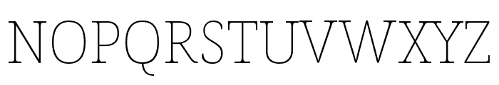 Noto Serif SemiCondensed Thin Font UPPERCASE