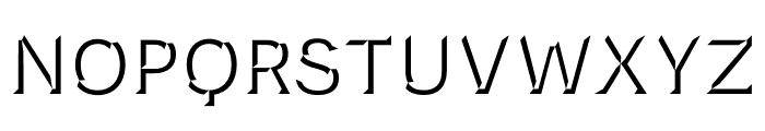 Novecento Carved condensed Medium Font LOWERCASE