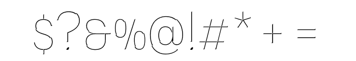 Novecento Carved condensed UltraLight Font OTHER CHARS