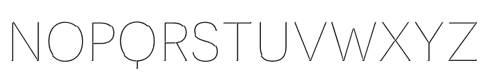 Novecento Carved condensed UltraLight Font LOWERCASE