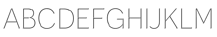 Novecento Carved narrow Light Font UPPERCASE