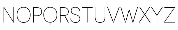 Novecento sans condensed UltraLight Font UPPERCASE