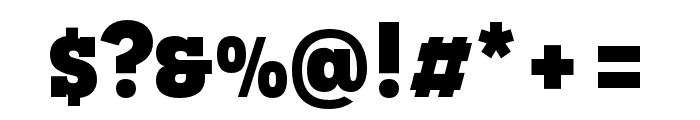 Novecento slab condensed UltraBold Font OTHER CHARS