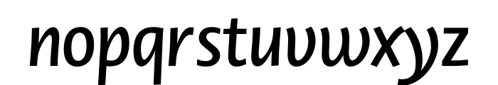 Novel Display Cnd SemiBd It Font LOWERCASE