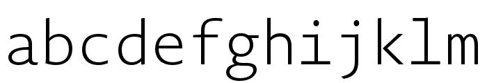 Novel Mono Pro Cnd XLight Font LOWERCASE