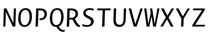 Novel Mono Pro XCnd Italic Font UPPERCASE