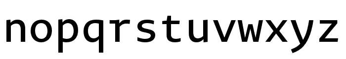 Novel Mono Pro XCnd Medium Font LOWERCASE