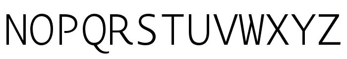 Novel Mono Pro XCnd XLight Font UPPERCASE