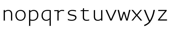 Novel Mono Pro XCnd XLight Font LOWERCASE