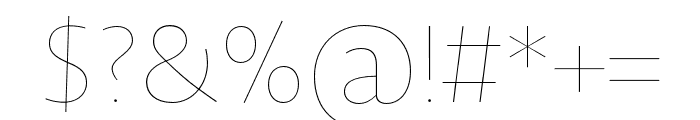 Novel Sans Hair Pro XCmp 10 Font OTHER CHARS