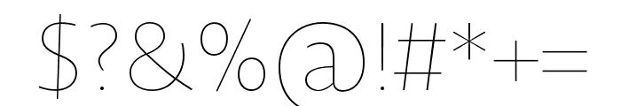 Novel Sans Hair Pro XCmp 18 Font OTHER CHARS