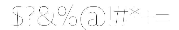 Novel Sans Hair Pro XCnd 8 Font OTHER CHARS