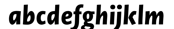 Novel Sans Pro XCmp XBold It Font LOWERCASE