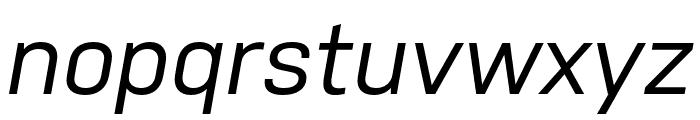 Nudista Medium Italic Font LOWERCASE