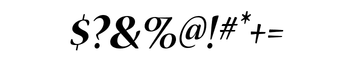 Nueva Std Bold Condensed Italic Font OTHER CHARS