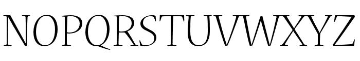 Nueva Std Light Condensed Font UPPERCASE