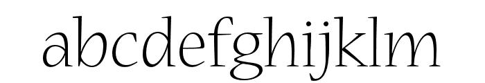 Nueva Std Light Condensed Font LOWERCASE