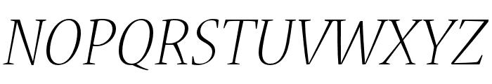 Nueva Std Light Extended Italic Font UPPERCASE