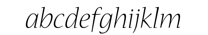 Nueva Std Light Extended Italic Font LOWERCASE