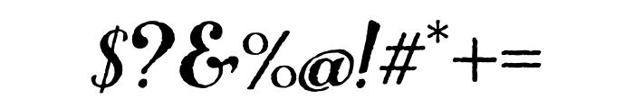 Number Five Rough Regular Font OTHER CHARS