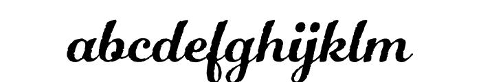 Number Five Rough Regular Font LOWERCASE