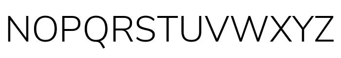 Nunito Sans Light Font UPPERCASE